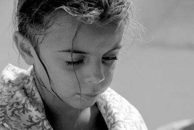 Ragazzina, portret van Italiaans meisje .