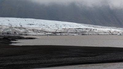 Skaftafellsjökull, gletsjer in het Skaftafell Nationaal Park in Zuid-IJsland.