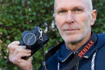 Nostalgie van de fotograaf met zijn eerste camera de Pentax Spotmatic.