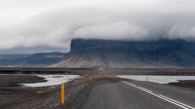 Lómagnúpur aan de rand van Skeiðarársandur in Zuid-IJsland.