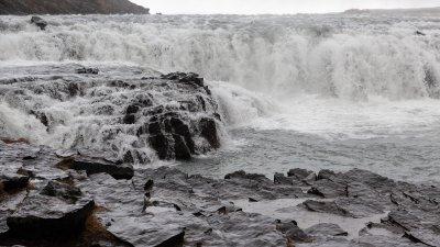 Gullfoss, waterval aan de Golden Circle Route in Zuid-Oost IJsland.
