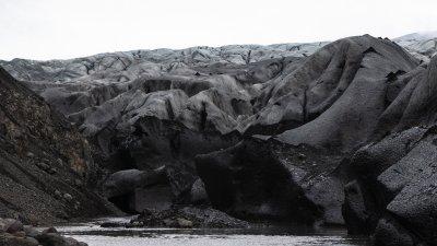 Skaftafellsjökull, gletsjer in het Skaftafell Nationaal Park. in Zuid-IJsland